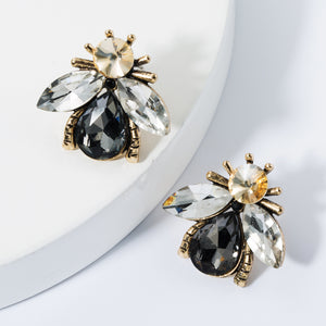 NIRUMON Stone Inlaid Bee Desing Starement Earrings - NIRUMON