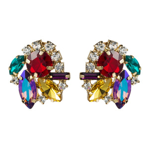 NIRUMON Color Diamond Super Flash Stud Earrings - NIRUMON