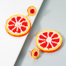Load image into Gallery viewer, NIRUMON Rice Beaded Lemon Desing Fashion Earrings - NIRUMON