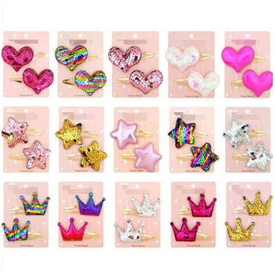NIRUMON Shinning Star Heart Crown Baby/ Toddler Hair Clip Set - NIRUMON