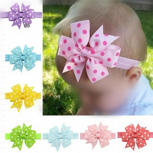 NIRUMON Polka Dot Fishtail Bowknot Baby/Toddler Fashion Hair Band - NIRUMON