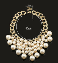 Load image into Gallery viewer, NIRUMON Pearl Beaded Chunky Fashion Necklace & Earrings Set - NIRUMON