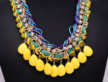 Load image into Gallery viewer, NIRUMON Hand-Knit Yellow Waterdrop Beaded Chunky Fashion Necklace - NIRUMON