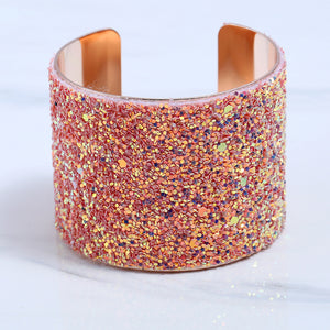 NIRUMON Rose Gold Open Ended Statement Bangle - NIRUMON