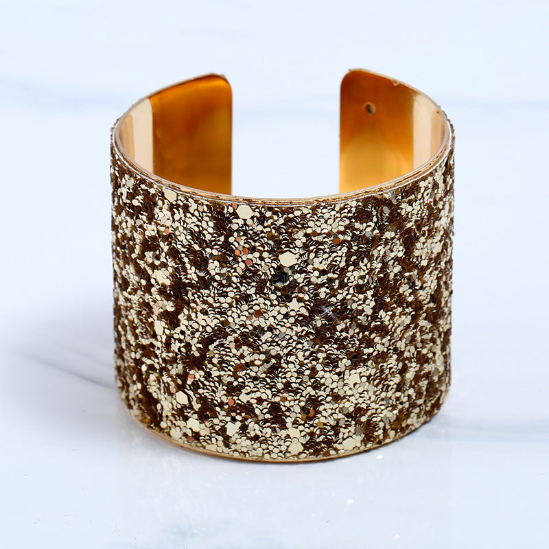 NIRUMON Golden Open Ended Statement Bangle - NIRUMON