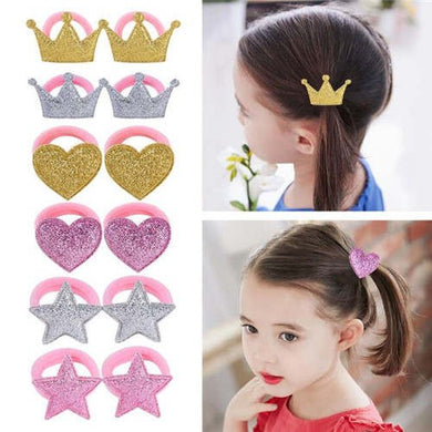 NIRUMON Crown Heart & Star Handmade Baby Girl Hair Band Set - NIRUMON
