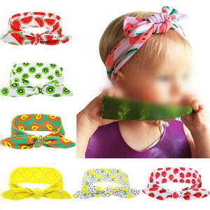 NIRUMON Summer Fashion Fruits Prints Cloth Bowknot Baby Hair Bands - NIRUMON