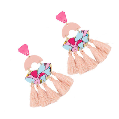 NIRUMON Acrylic Tassel Earrings - NIRUMON