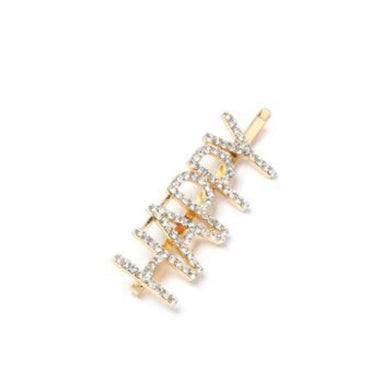 NIRUMON Diamond Inlaid Geometric Happy Design Fashion Hair Clip - NIRUMON