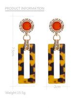 Load image into Gallery viewer, NIRUMON Sunflower with Bold Acrylic Oblong Design  Statement Earrings - NIRUMON