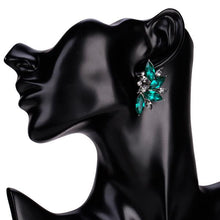 Load image into Gallery viewer, NIRUMON Actylic Diamonds Inlaid Fan Designed Statement Earrings - NIRUMON
