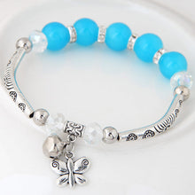 Load image into Gallery viewer, NIRUMON Blue & Silver Beads Vintage Bracelet - NIRUMON