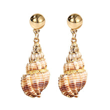 Load image into Gallery viewer, NIRUMON Shell with Gold Stud Fashion Earrings - NIRUMON