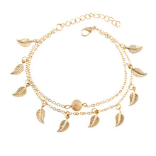 Load image into Gallery viewer, NIRUMON Leaf & Ball Pendants Double Layered Fashion Bracelets - NIRUMON