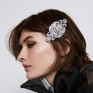 NIRUMON Diamond Inlaid Geometric Design Bridal Statement Hairclips - NIRUMON