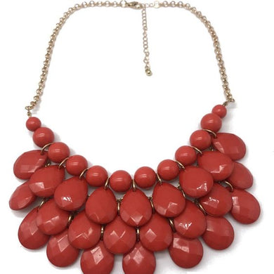 NIRUMON Waterdrop Design Layered Statement Necklace