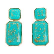 Load image into Gallery viewer, NIRUMON Resin Gem Geometric Design Statement Earrings - NIRUMON