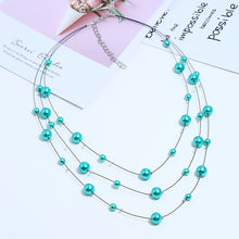 Load image into Gallery viewer, NIRUMON Turquoise Beaded Handmade Layered Necklace