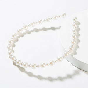 NIRUMON Pearl Inlaid Statement Hairband - NIRUMON