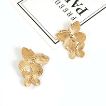 Load image into Gallery viewer, NIRUMON Butterfly Design Golden Statement Earrings