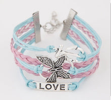 Load image into Gallery viewer, NIRUMON Butterfly & Heart Pendant Wide Fashion Bracelet - NIRUMON