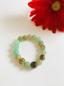 NIRUMON Sea Green Marble Beaded Acrylic Handmade Bracelet - NIRUMON
