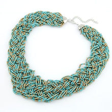 Load image into Gallery viewer, NIRUMON Handmade Beaded Chunky Statement Necklace