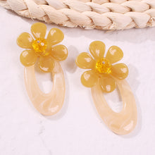 Load image into Gallery viewer, NIRUMON Flower Design Stud with Waterdrop Design Acrylic Fashion Earrings - NIRUMON