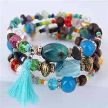 Load image into Gallery viewer, NIRUMON Stone & Multicolored Beaded Boho Style Handmade Layered Bracelet - NIRUMON