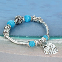 Load image into Gallery viewer, NIRUMON Coloured & Silver Beaded Elastic Silver Charm Bracelet - NIRUMON