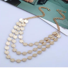 Load image into Gallery viewer, NIRUMON Glistening Paillettes Golden Fashion Necklace - NIRUMON