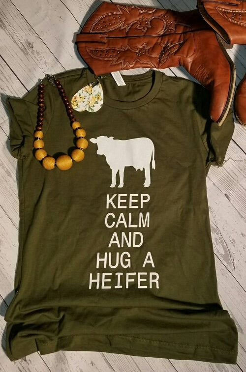Hug A Heifer Ladies T-Shirt