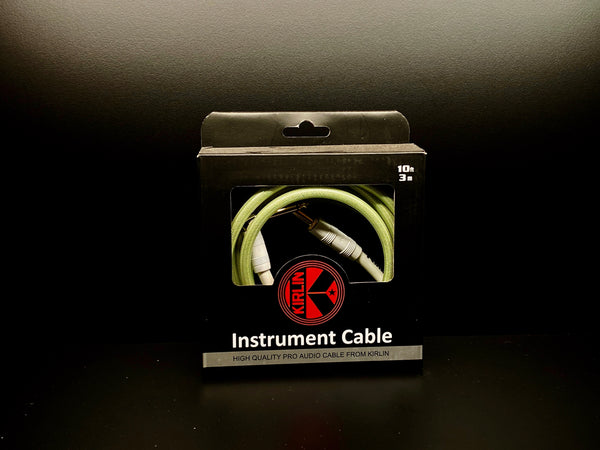 Kirlin 10ft Gel Cable Green