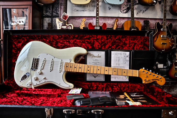 Fender Custom Shop '68 Strat Relic Aged Olympic White 2018