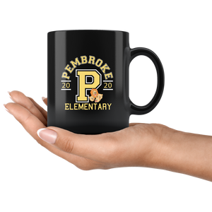 Pembroke Athletic Black 11oz Mug