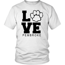 Load image into Gallery viewer, Pembroke LOVE Adult Short Sleeve Shirt