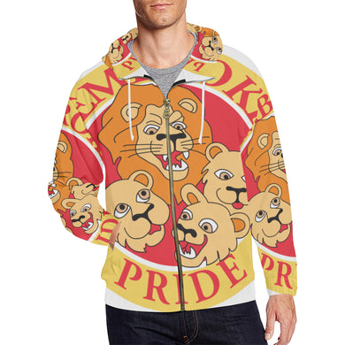 Pembroke Uniesx All Over Print Full Zip Hoodie