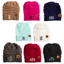 Load image into Gallery viewer, Monogram Adult Beanie