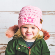 Load image into Gallery viewer, Monogram Kids Beanies