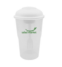 Load image into Gallery viewer, Salad Shaker Container with Fork and Dressing Container (3,000 units)