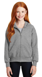 Youth Full-Zip Hooded Sweatshirt by Hanes®