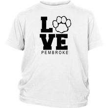 Load image into Gallery viewer, Pembroke LOVE Youth Short Sleeve Shirt