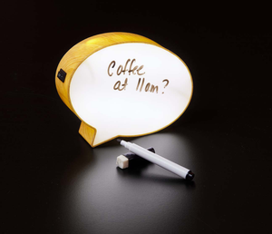 "6"" Light-up Mini Speech Bubble Message Board (3,000 units)"