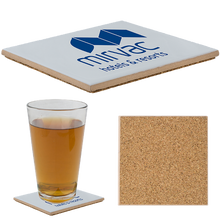 "Load image into Gallery viewer, 4-1/4"" Sq. Ceramic Coaster with Matte Finish (3,000 units)"