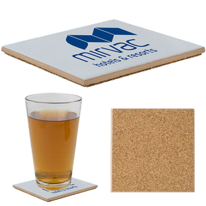 "4-1/4"" Sq. Ceramic Coaster with Matte Finish (3,000 units)"