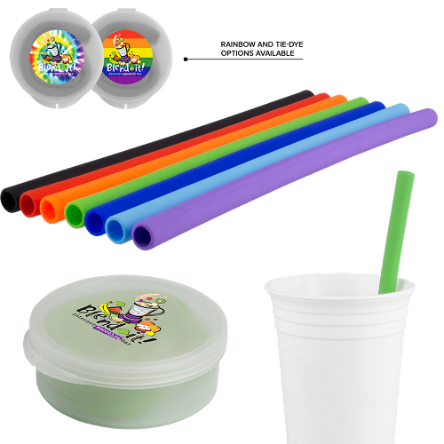 Silicone Straw in Round Case (3,000 units)