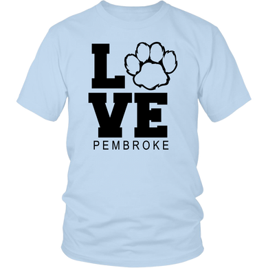 Pembroke LOVE Adult Short Sleeve Shirt