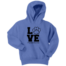 Load image into Gallery viewer, Pembroke LOVE Youth Hoodie
