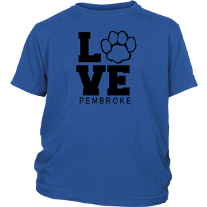 Pembroke LOVE Youth Short Sleeve Shirt