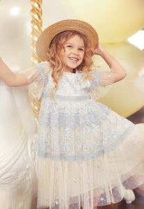 Midsummer Lace Kids Dress - Blue